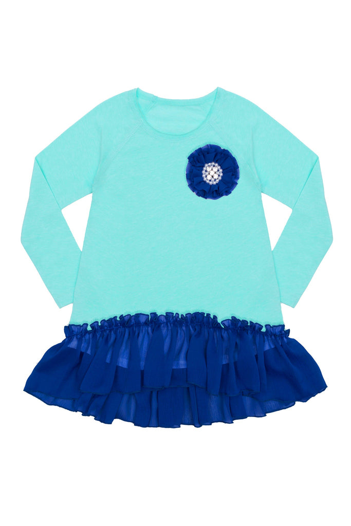 High-Low Ruffle Dressy Tunic Top - Girls - Pineapple Clothing