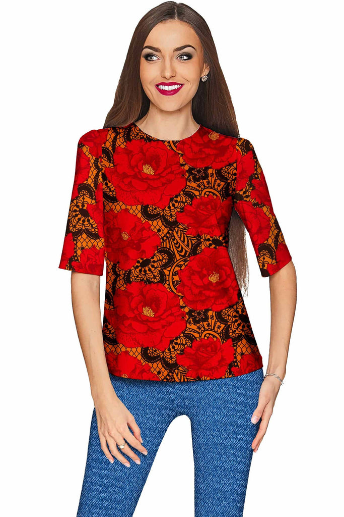 Hot Tango Sophia Elbow Sleeve Dressy Top - Mommy & Me - Pineapple Clothing