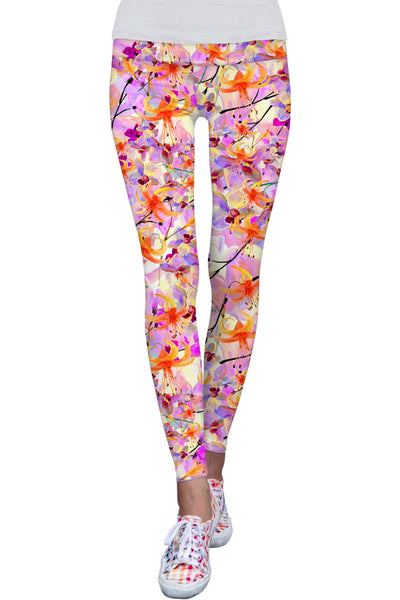 In Love Lucy Pink Floral Print Performance Leggings - Women