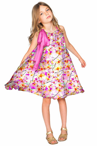 In Love Melody Cute Chiffon Pink Dress - Girls - Pineapple Clothing