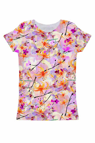 In Love Zoe Pink Floral Print Cute Designer T-Shirt - Women - Pineapple Clothing
