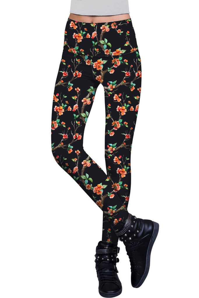 In The Night Lucy Floral Print Performance Leggings - Women - Pineapple Clothing