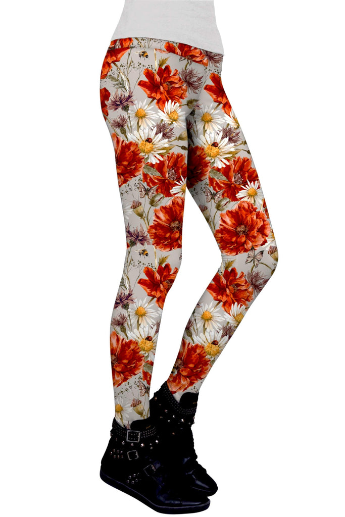 In The Wheat Field Lucy Floral Performance Legging - Women - Pineapple Clothing