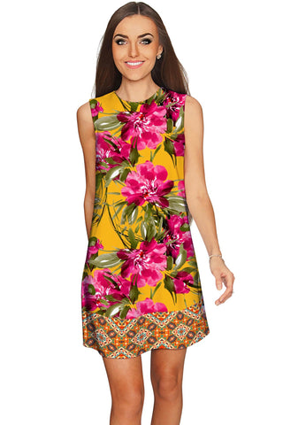 Indian Summer Adele Vintage Floral Shift Dress - Women - Pineapple Clothing