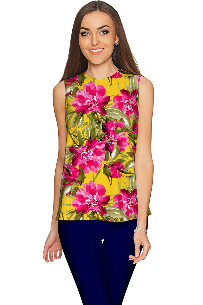 00ec2955ac7ee Indian Summer Emily Vintage Floral Print Dressy Top - Women - Pineapple  Clothing