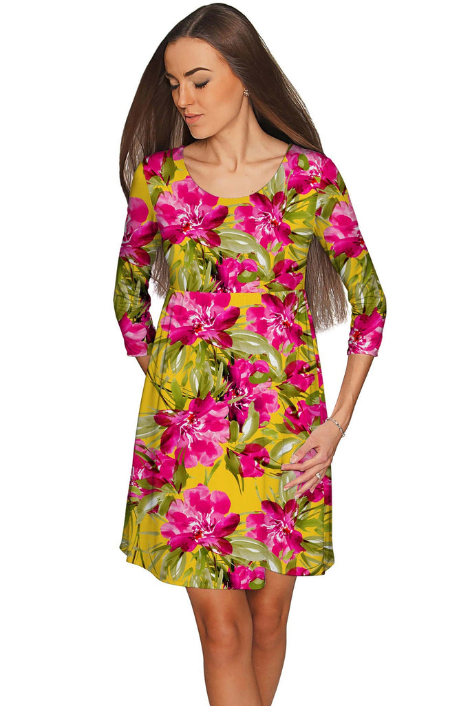 Indian Summer Gloria Fit & Flare Floral Dress - Women - Pineapple Clothing