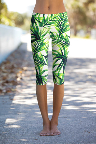 Island Life Ellie Performance Capri Leggings - Women - Pineapple Clothing