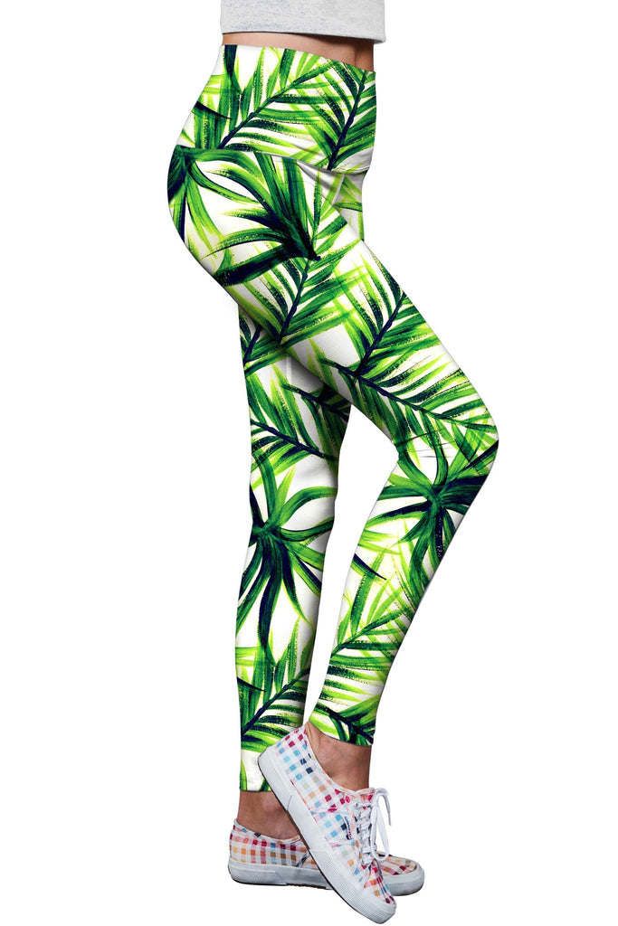 Island Life Lucy Floral Print Performance Leggings - Women - Pineapple Clothing