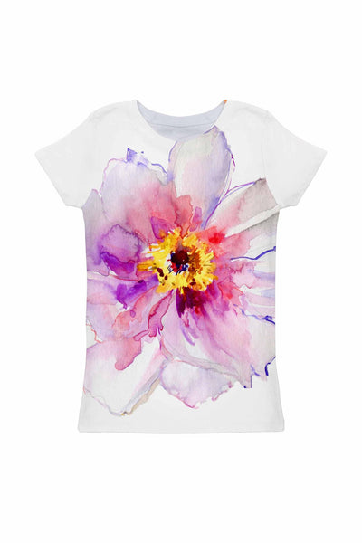 Isle of Love Zoe Floral Print Cute Designer Tee - Girls