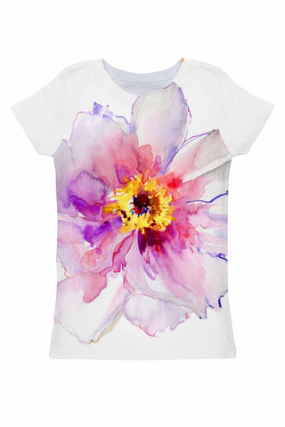 Isle of Love Zoe Floral Print Designer T-Shirt - Women - Pineapple Clothing