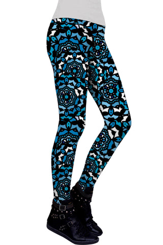 Little Kaleidoscope Lucy Printed Performance Leggings - Women - Pineapple Clothing