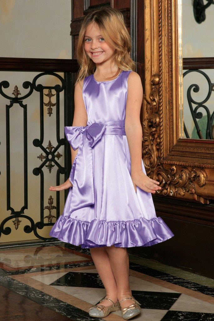 Lavender Fit & Flare Summer Party Midi Princess Dress Flower Girl - Pineapple Clothing