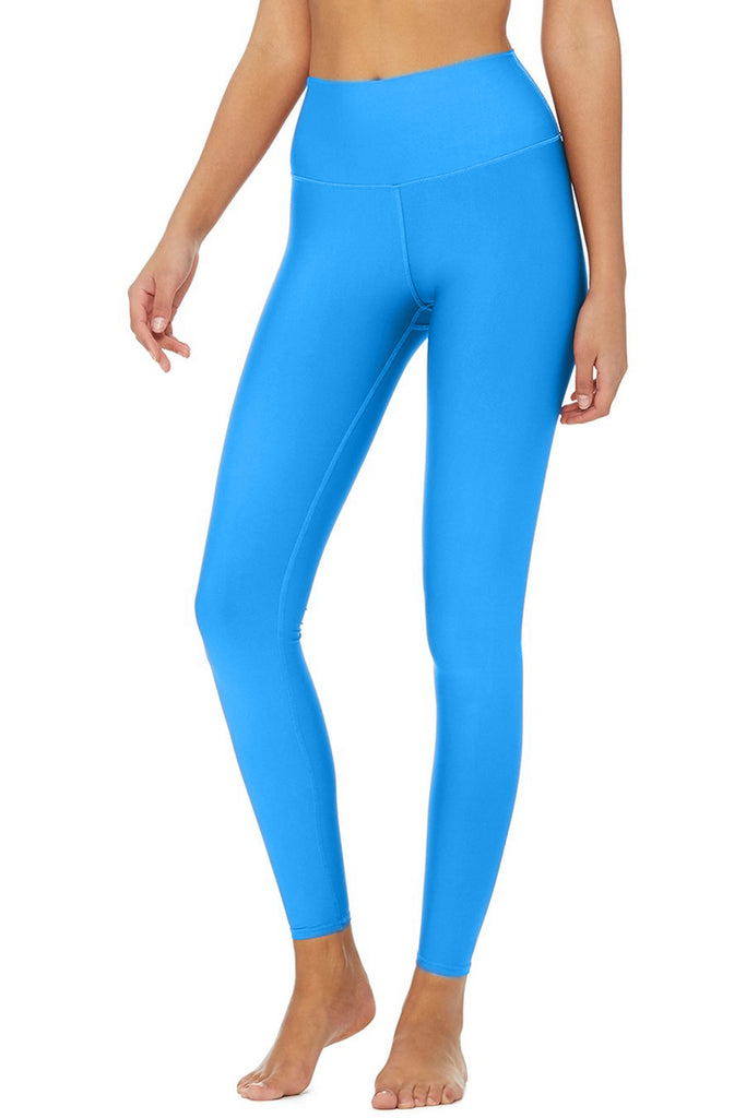 Light Blue Uv 50 Lucy Recyclable Leggings Yoga Pants Women Pineapple Clothing