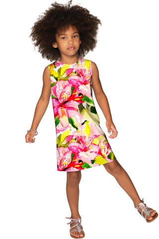 Little Havana Flash Adele Colorful Summer Shift Dress - Girls - Pineapple Clothing