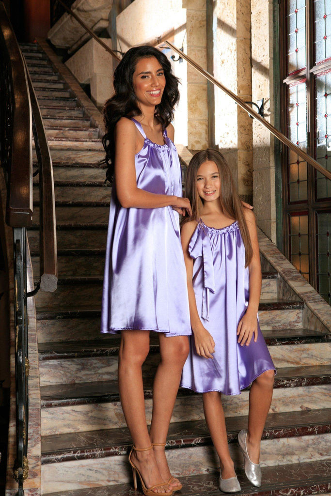 Lavender Halter Swing Spring Summer Party Chic Mommy and Me Dress - Pineapple Clothing