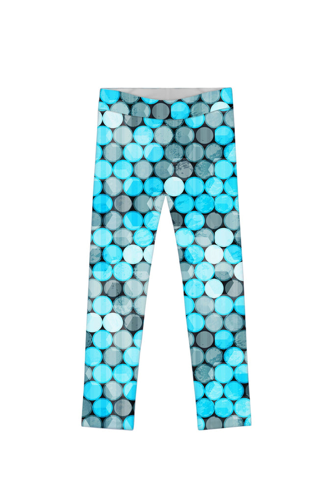 Magic Bubbles Lucy Cute Blue & Grey Printed Legging - Girls - Pineapple Clothing