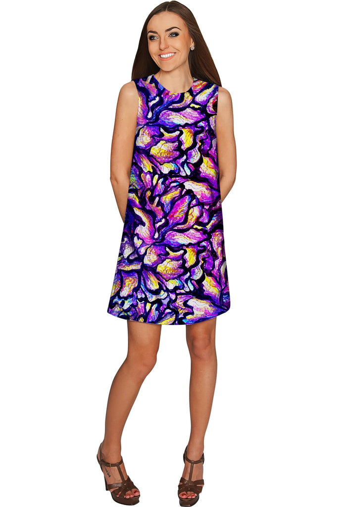Make a Wish Adele Purple Evening Party Shift Dress - Women ...