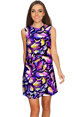 Make a Wish Adele Purple Evening Party Shift Dress - Women - Pineapple Clothing