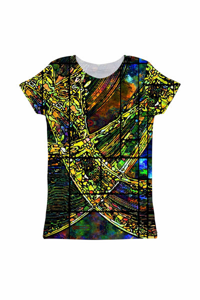 Merry Dancers Zoe Green Designer Print Cute Tee - Girls