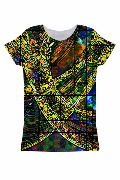 Merry Dancers Zoe Green Designer Print T-Shirt - Women