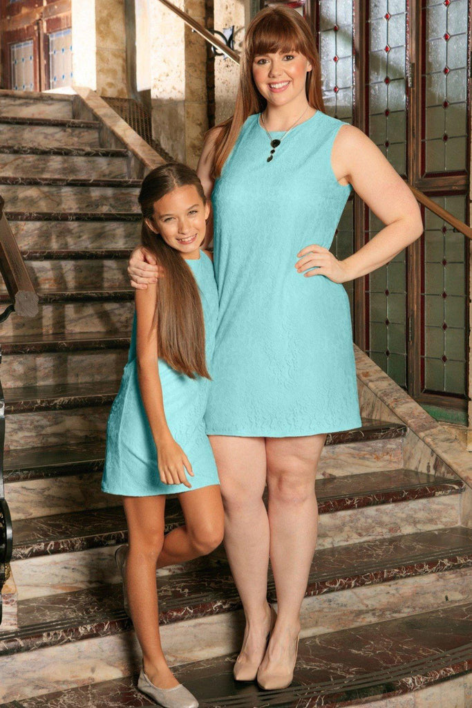 Mint Lace Sleeveless Shift Mommy and Me Dress Plus Size – Pineapple ...