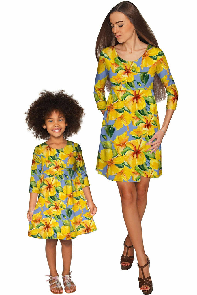 After the Rain Gloria Empire Waist Floral Mommy and Me Dress - Pineapple Clothing