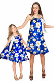 Almond Blossom Melody Blue Chiffon Floral Dress - Women - Pineapple Clothing