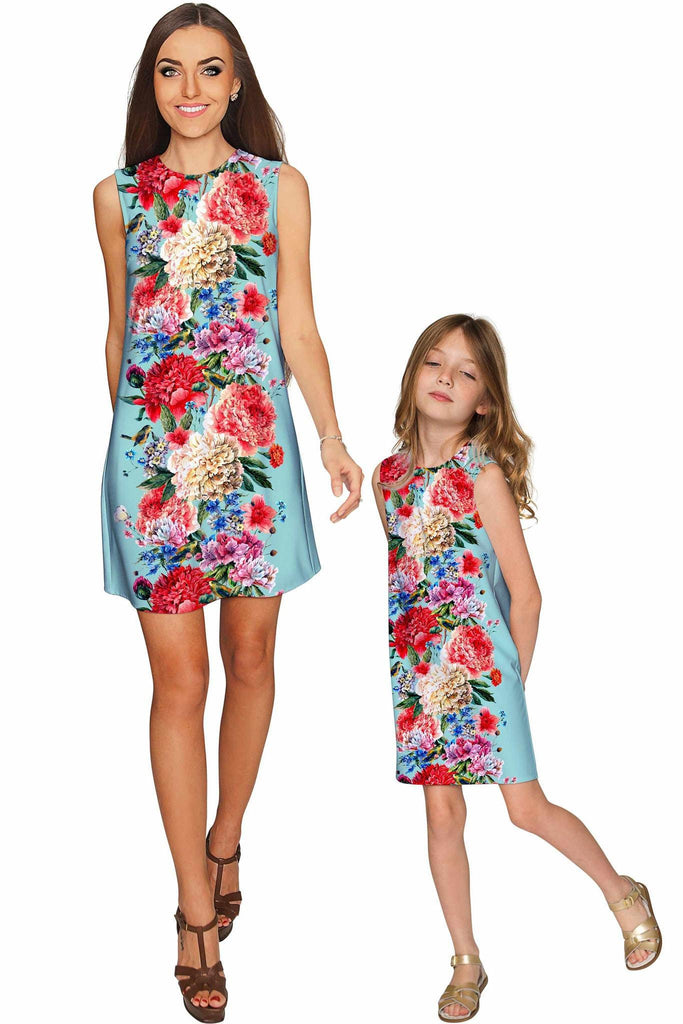 Amour Adele Shift Floral Mommy and Me Dresses - Pineapple Clothing