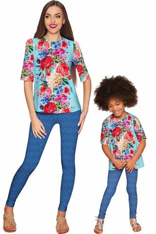 Amour Sophia Elbow Sleeve Party Top - Mommy & Me - Pineapple Clothing