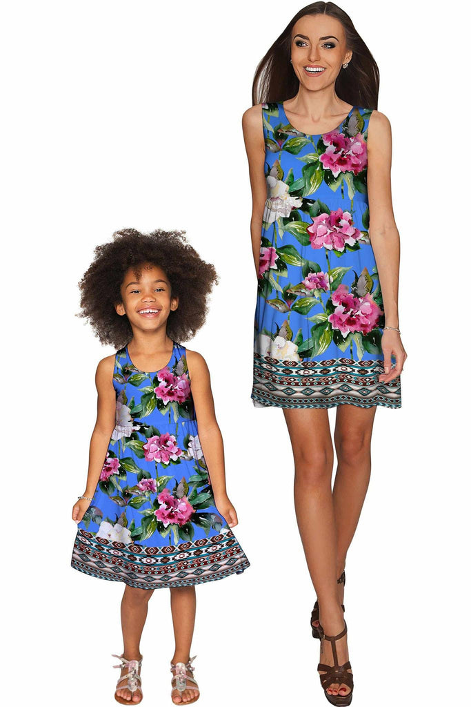 Aquarelle Sanibel Empire Waist Mommy and Me Dress - Pineapple Clothing
