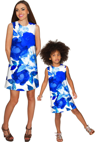 Blue Blood Adele Shift Floral Mother and Daughter Dresses - Pineapple Clothing