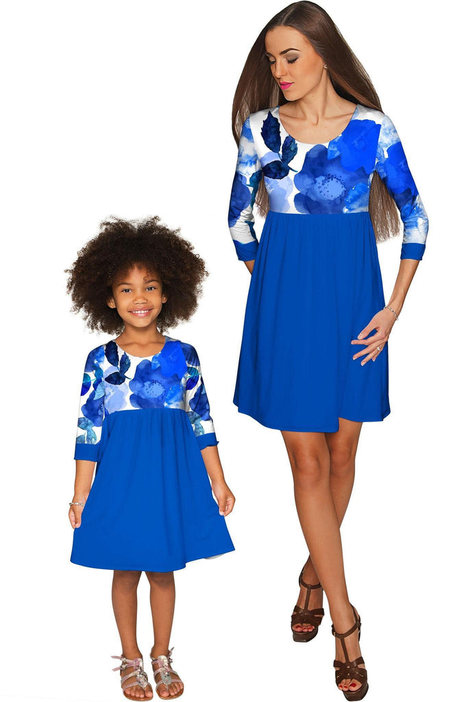 Blue Blood Gloria Empire Waist Floral Mother Daughter Dress - Pineapple Clothing