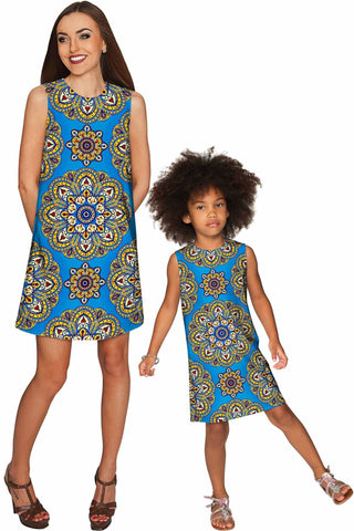 Boho Chic Adele Shift Floral Mother and Daughter Dress - Pineapple Clothing
