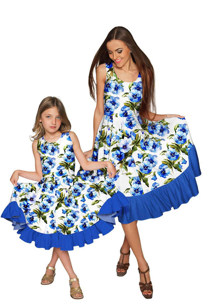 Catch Me Vizcaya Fit & Flare Midi Mother and Daughter Dress - Pineapple Clothing
