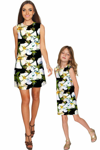 Date Night Adele Shift Floral Mother Daughter Dress - Pineapple Clothing