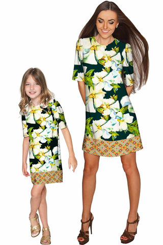 Date Night Grace Shift Floral Mommy and Me Dress - Pineapple Clothing