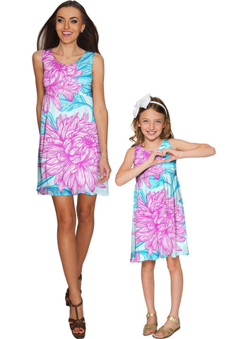 01e8aecbbe Floral Bliss Sanibel Empire Waist Mother Daughter Dress - Pineapple Clothing