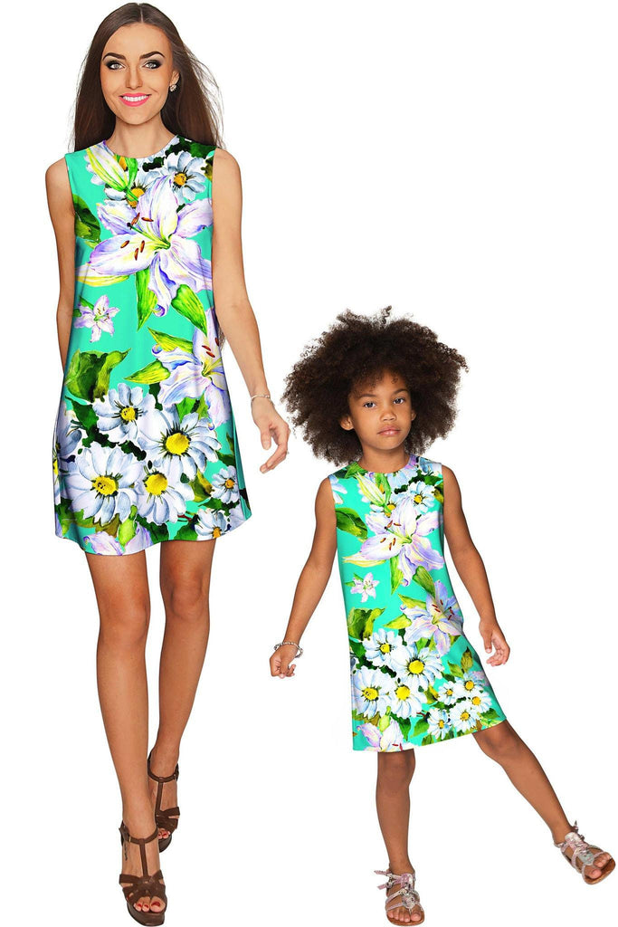 9da038316aa0b Flower Party Adele Shift Floral Mommy and Me Dress