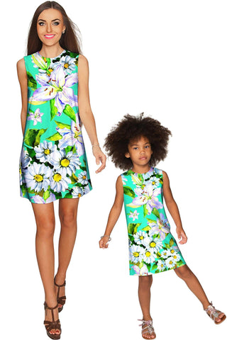 Flower Party Adele Shift Floral Mommy and Me Dress - Pineapple Clothing