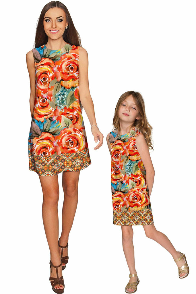 Fox Adele Shift Floral Mommy and Me Dresses - Pineapple Clothing