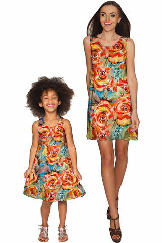 Fox Sanibel Empire Waist Mother and Daughter Dress - Pineapple Clothing