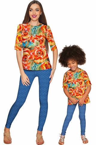 Fox Sophia Elbow Sleeve Party Top - Mommy & Me - Pineapple Clothing