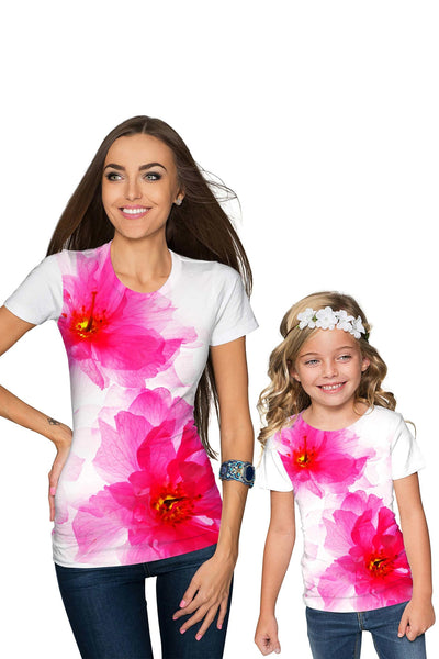 Fragrance Zoe Pink Floral Print Cute Designer T-Shirt - Girls