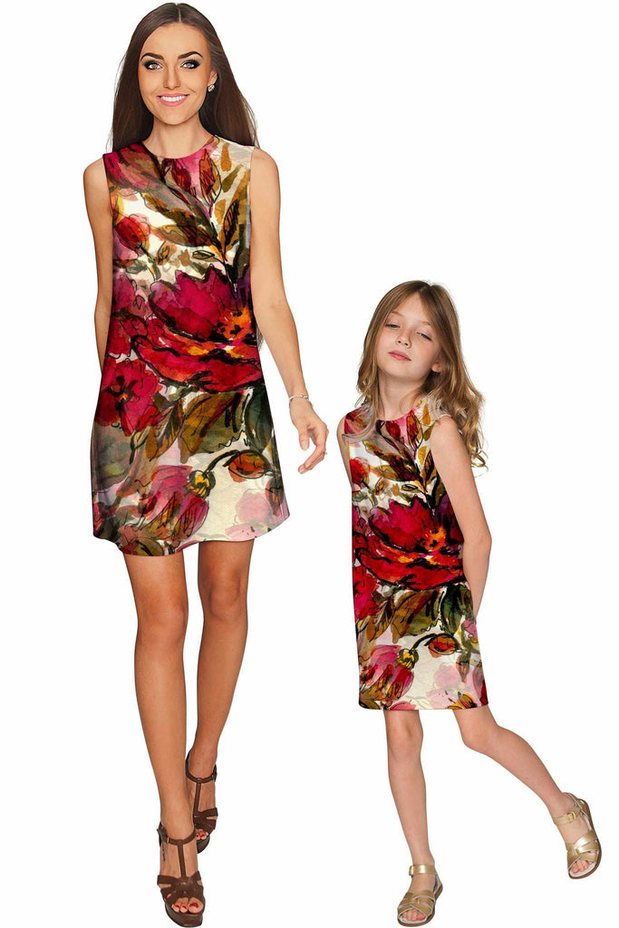 Free Spirit Adele Shift Floral Dress - Mommy & Me - Pineapple Clothing
