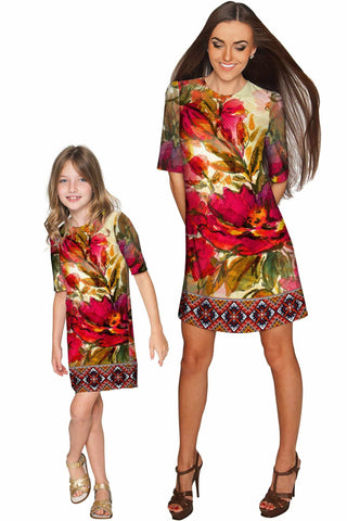 Free Spirit Grace Shift Floral Mother and Daughter Dresses - Pineapple Clothing