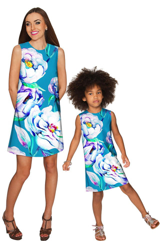 Gentle You Adele Shift Floral Mother Daughter Dress - Pineapple Clothing