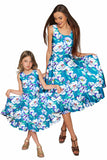 Gentle You Vizcaya Fit & Flare Blue Flower Print Dress - Girls - Pineapple Clothing