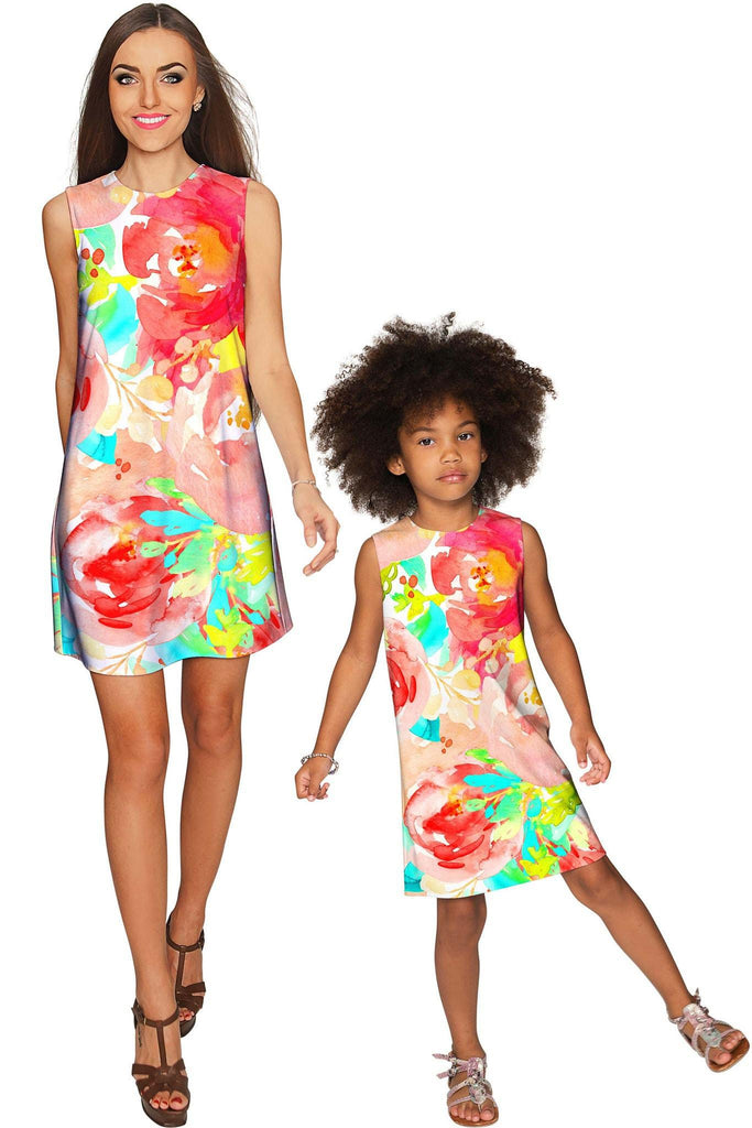 Good Idea Adele Shift Floral Mother and Daughter Dresses - Pineapple Clothing