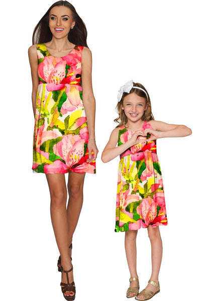 Havana Flash Sanibel Colorful Summer Empire Dress - Girls