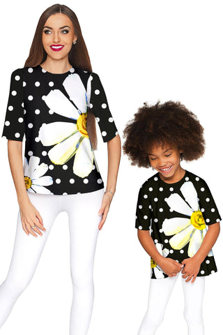 He Loves Me Sophia Elbow Sleeve Party Top - Mommy & Me - Pineapple Clothing